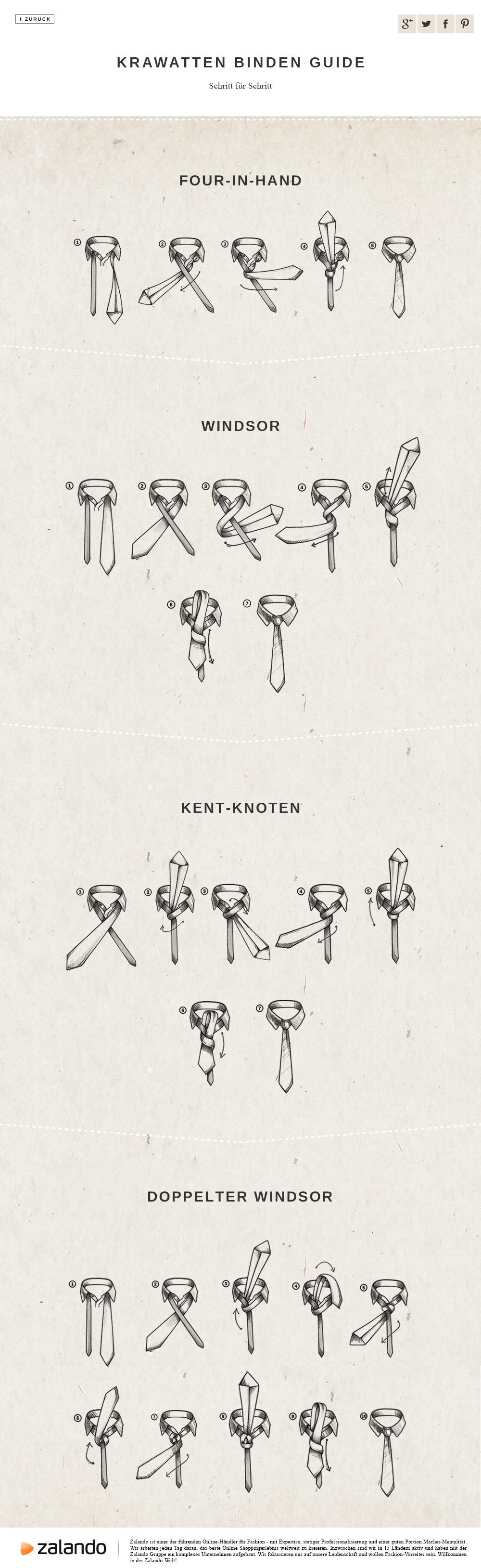 Krawattenknoten: Windsor, Doppelter Windsor, Kent & Four ...