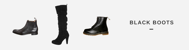 Black boots at Zalando.co.uk